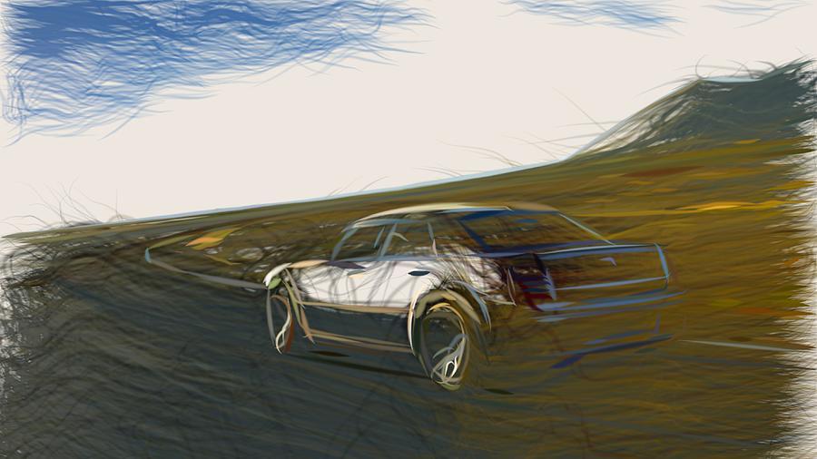 Chrysler Digital Art - Chrysler 300c Srt8 Draw by CarsToon Concept