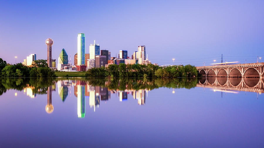 City of Dallas Texas Reflection by Robert Bellomy