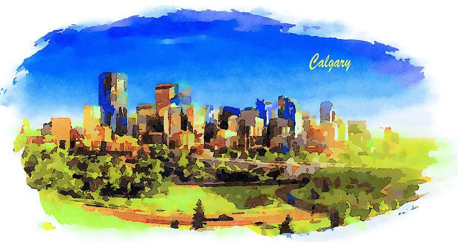 5c64c234b City Skyline Of Calgary