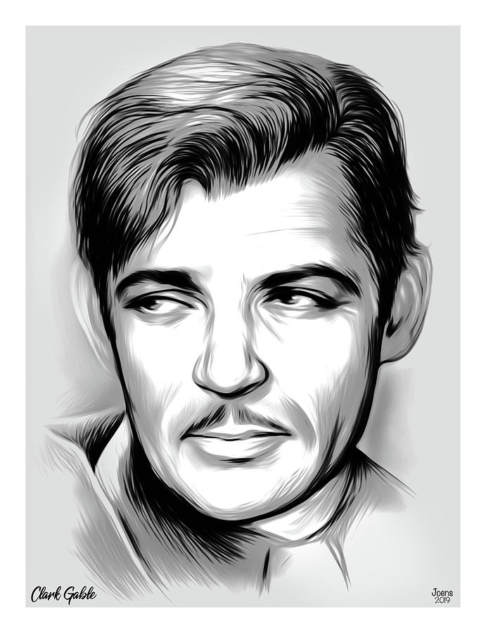 Clark Gable Mixed Media