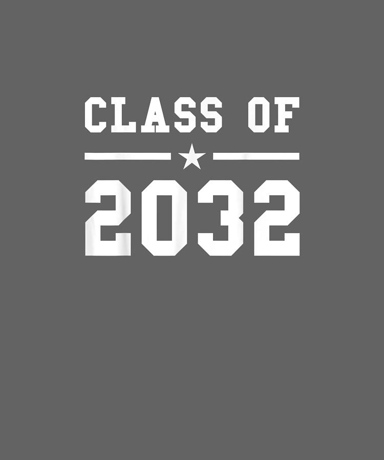 Class Digital Art - Class Of 2032 Grow With Me Shirt by Unique Tees