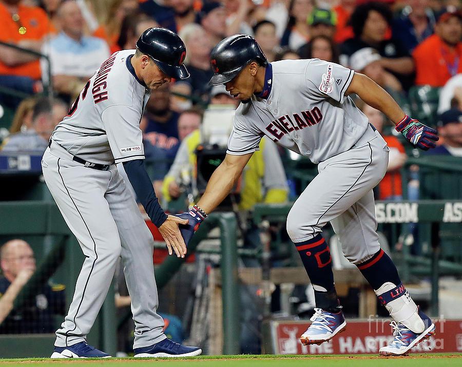 Cleveland Indians V Houston Astros Photograph by Bob Levey