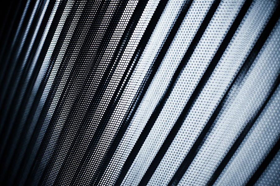 Close-up Of Abstract Lined Pattern Photograph by Ralf Hiemisch