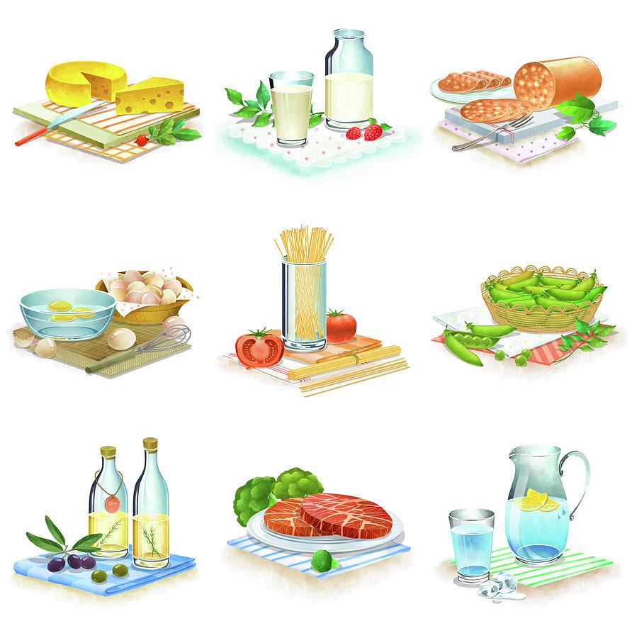 Close-up Of Food Stuff Digital Art by Eastnine Inc.
