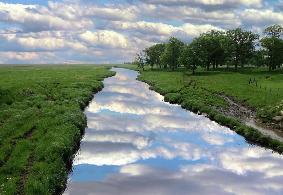 Cloudy Reflections by Carolyn Fletcher