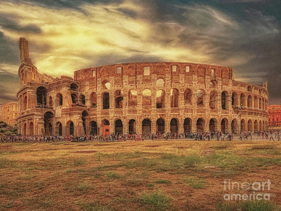 Colosseo Photograph - Colosseo, Rome by Leigh Kemp