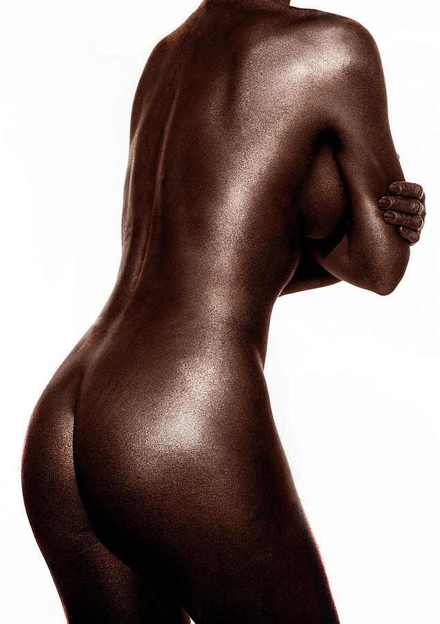 Copper-toned black and white torso by Anders Kustas