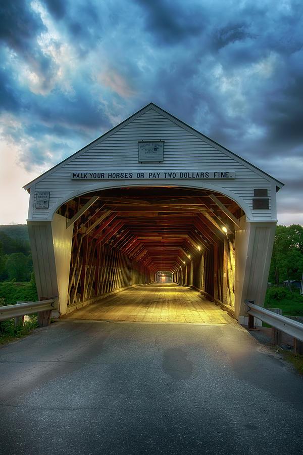 Cornish Windsor Covered Bridge by Joann Vitali