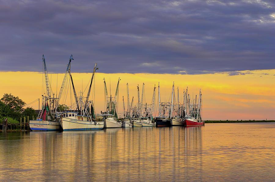 Darien shrimping fleet  by Kenny Nobles