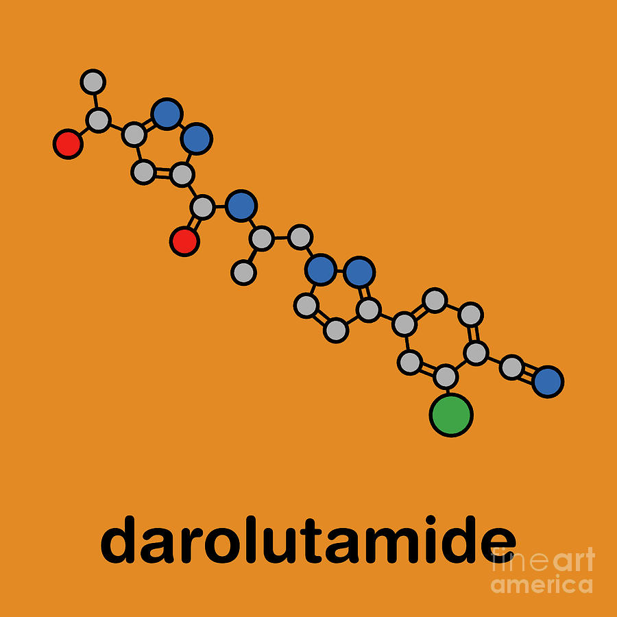Nonsteroidal Photograph - Darolutamide Prostate Cancer Drug Molecule 2 by Molekuul/science Photo Library