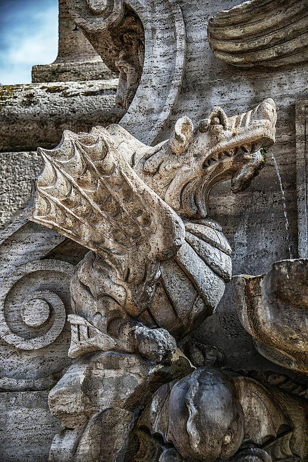 Archbasilica Of St. John Lateran Photograph - Dragon by Joseph Yarbrough