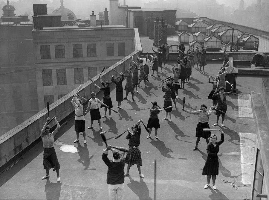 Exercise Class Photograph by Fox Photos
