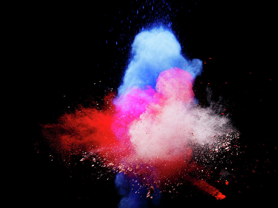 Explosion Of Colored Powder Photograph by Henrik Sorensen