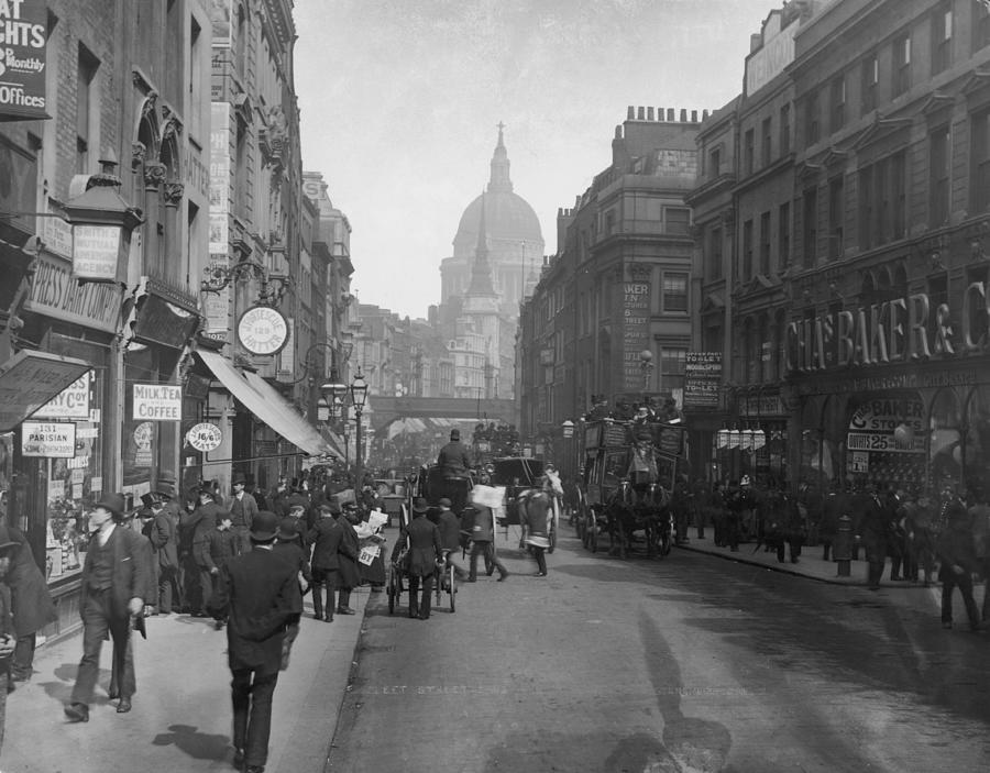 Fleet Street Photograph by London Stereoscopic Company