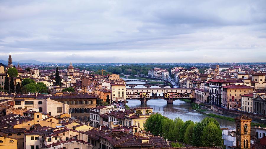 Florence, Ponte Vecchio Photograph by Deimagine
