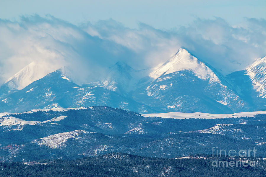 Fresh Snow On The Sangre De Cristo Photograph