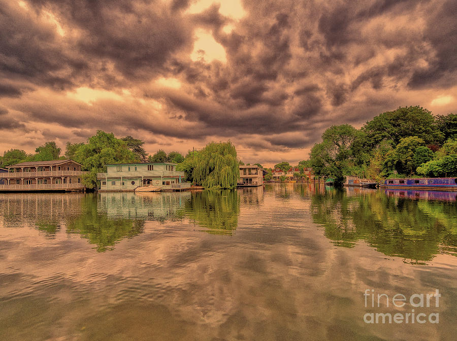 Molesey Photograph - Further Down The River by Leigh Kemp