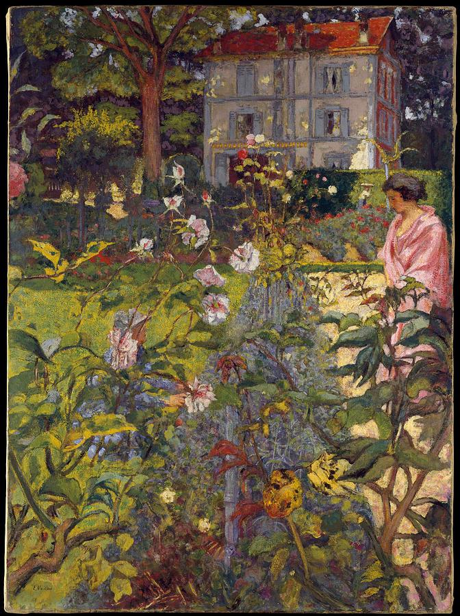 Edouard Vuillard Painting - Garden At Vaucresson  by Edouard Vuillard