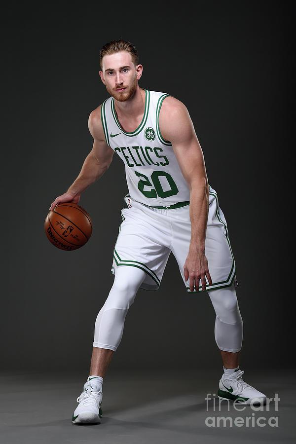 Gordon Hayward Boston Celtics Portraits Photograph by Brian Babineau