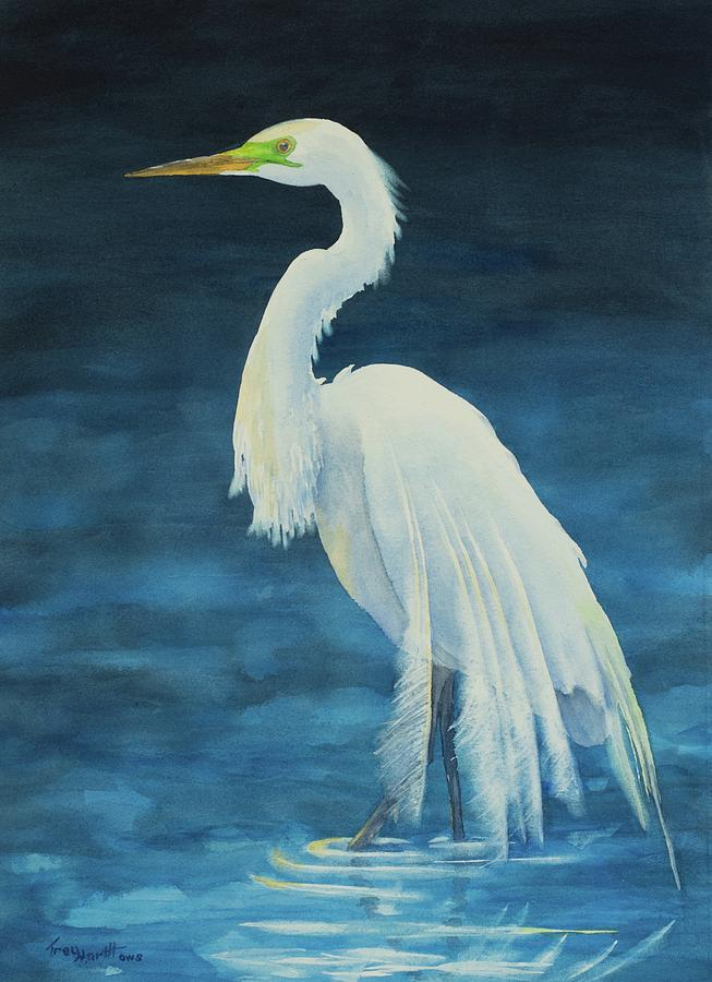 Great Egret by George Harth