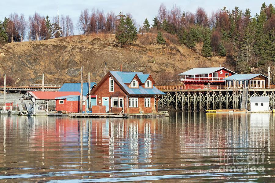 Fishing Port Photograph - Halibut Cove Kenai Peninsula Alaska by Louise Heusinkveld