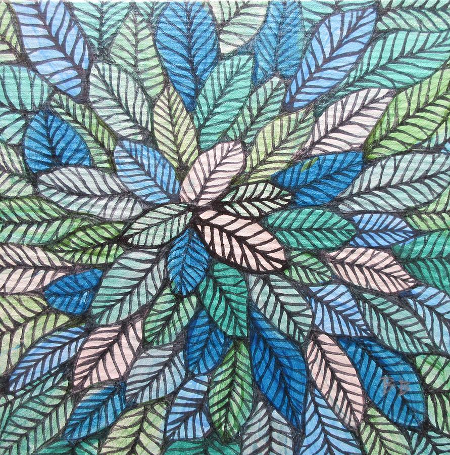 Happy Leaves 22 by Bradley Boug