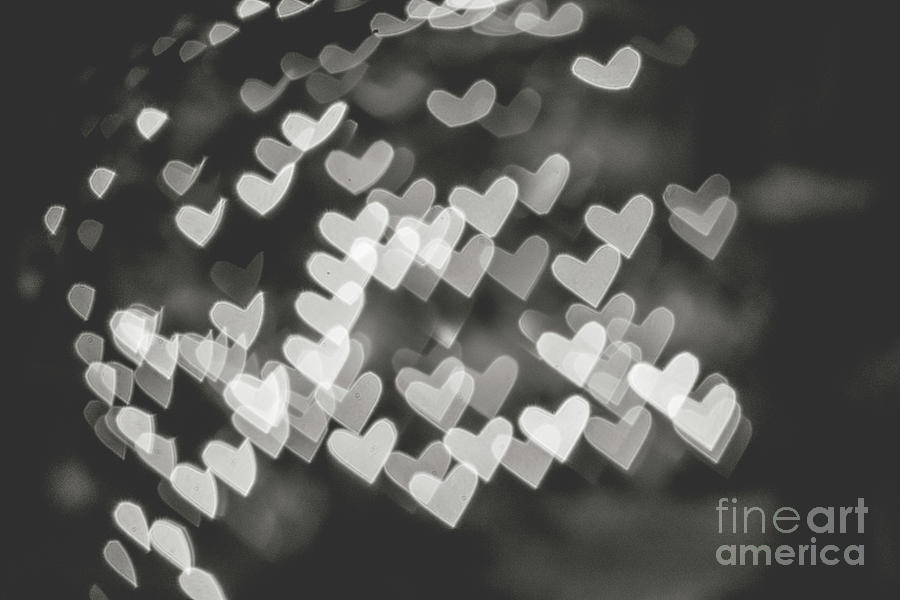 Heart bokeh BW by Mariusz Talarek