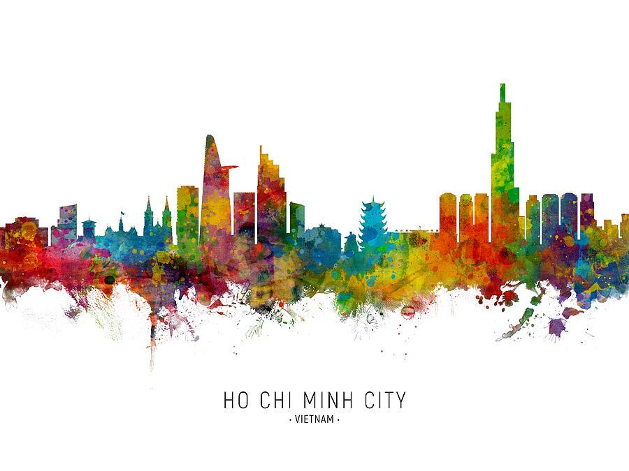Ho Chi Minh City Vietnam Skyline by Michael Tompsett