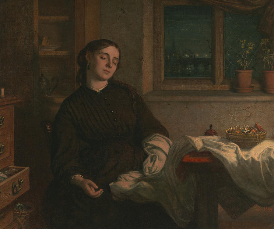 English Painters Painting - Home Dreams 2 by Charles West Cope