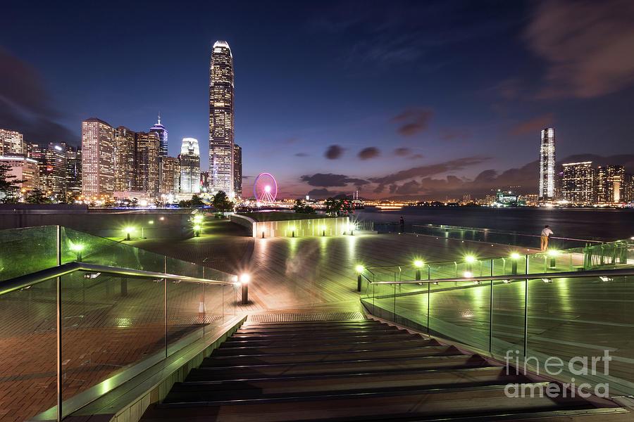 Hong Kong twilight by Didier Marti
