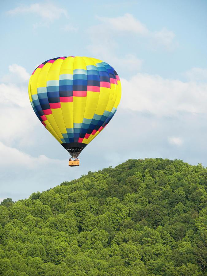 Hot Air Balloon In A Blue Sky Photograph by Wbritten