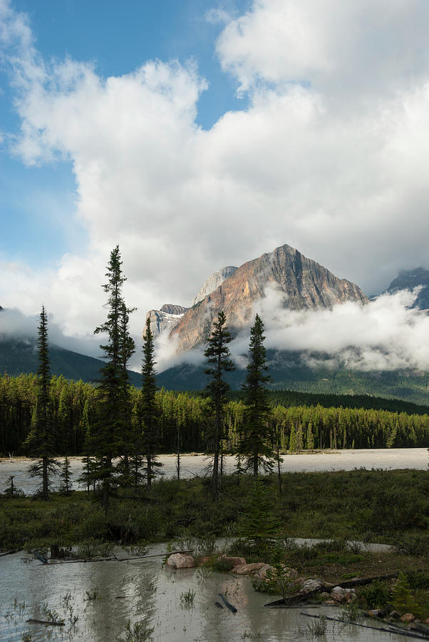 Icefields Parkway Landscape With Photograph by John Elk Iii