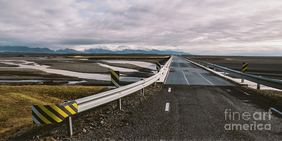 Icelandic Lonely Road In Wild Territory With No One In Sight Photograph
