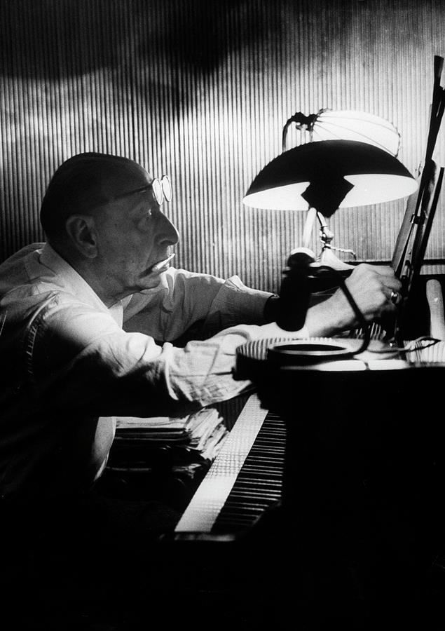 Igor Stravinsky Photograph by Gjon Mili