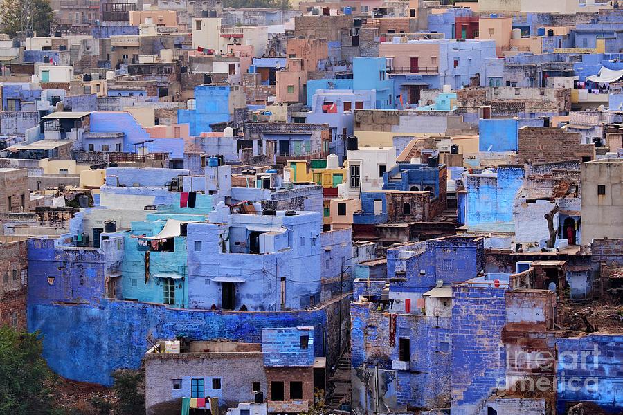 India, Rajasthan, Jodhpur, The Blue City Photograph by Tuul & Bruno Morandi