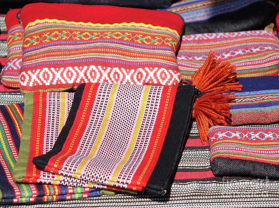 Indigenous Textiles at a Local Market by Yali Shi