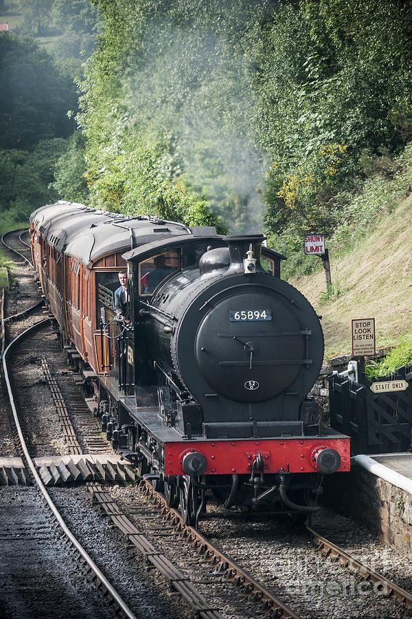 Goathland Photograph - J27 Locomotive 65894 On North York Moors Railway by Simon Pocklington