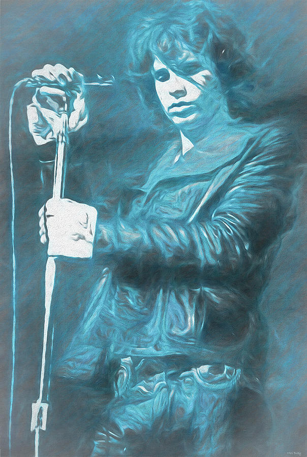 Jim Morrison Mixed Media - Jim Morrison The Doors by Mal Bray