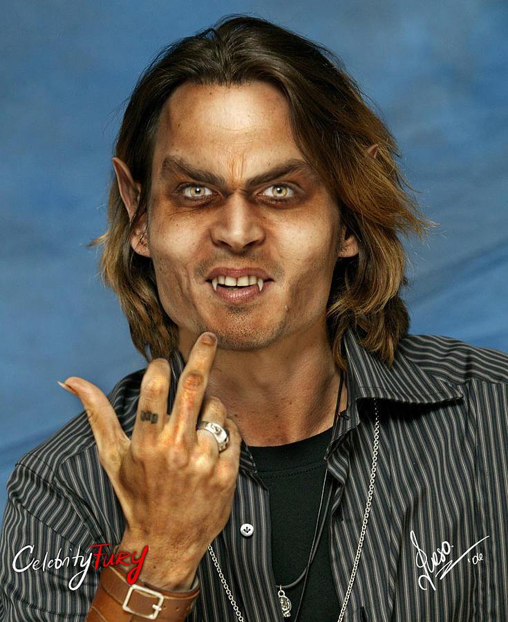 Johnny Depp Digital Art - Johnny Depp by Queso Espinosa