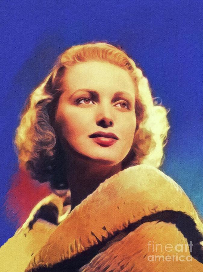June Lang, Vintage Actress Painting