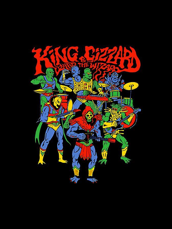 King Digital Art - King Gizzard by Mimi Kiki