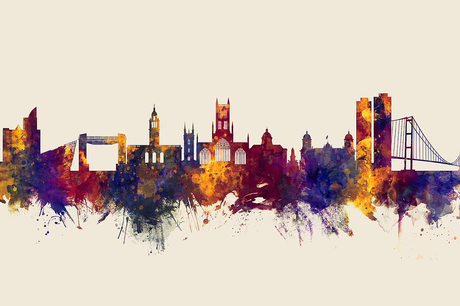 Kingston Upon Hull England Skyline Digital Art By Michael Tompsett