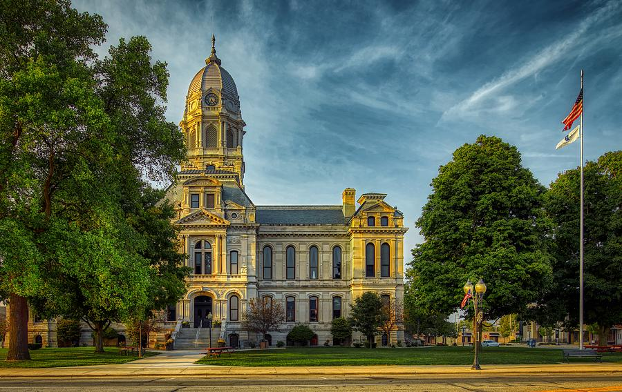 Kosciusko County Photograph - Kosciusko County Courthouse 2 by Mountain Dreams