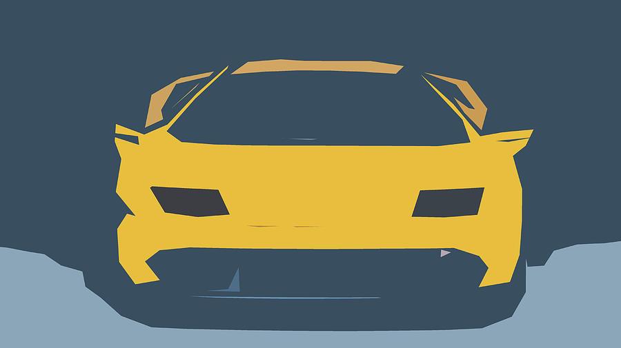 Lamborghini Diablo Gt R Abstract Design Digital Art By Carstoon