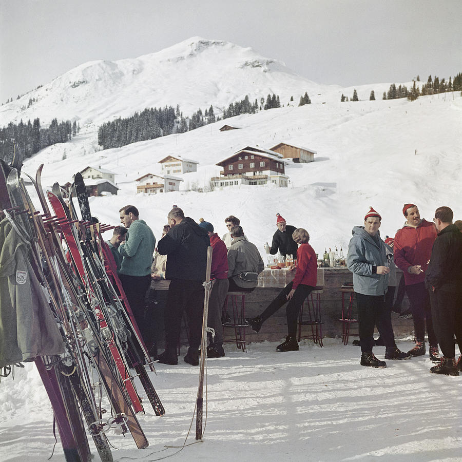 Lech Ice Bar 2 Photograph by Slim Aarons