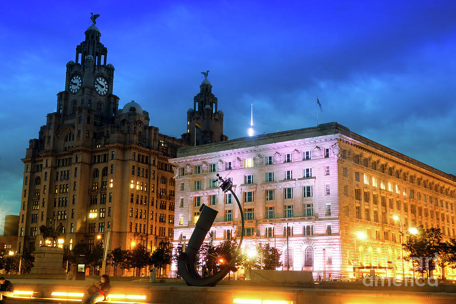 Waterfront Photograph - Liverpools Historic Waterfront by Ken Biggs