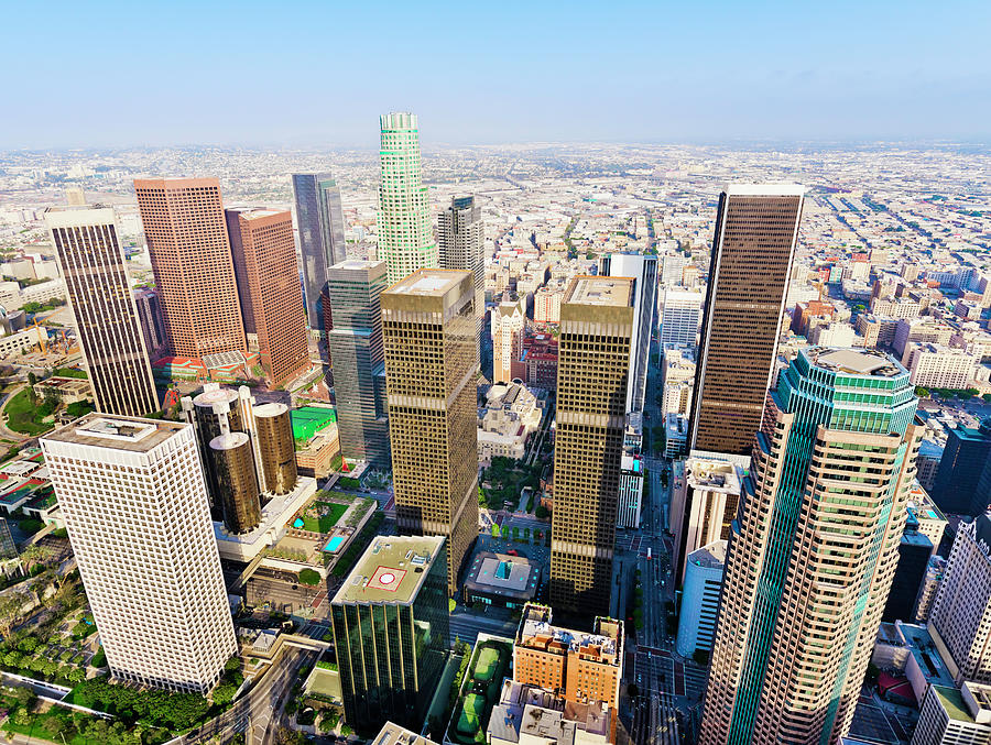 Los Angeles California Downtown Skyline Photograph by Dszc
