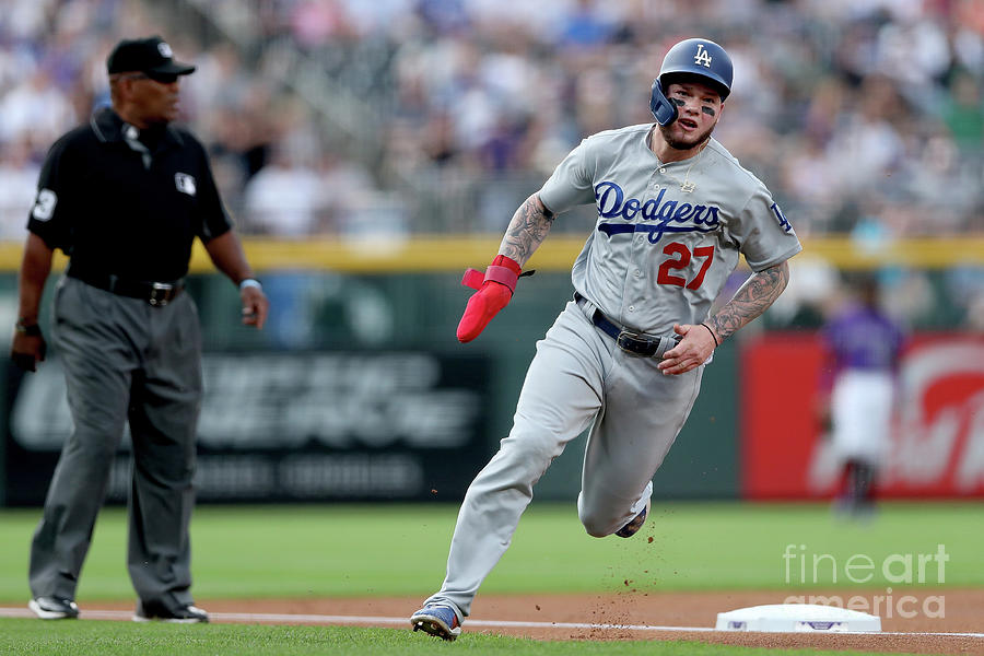 Los Angeles Dodgers V Colorado Rockies Photograph by Matthew Stockman