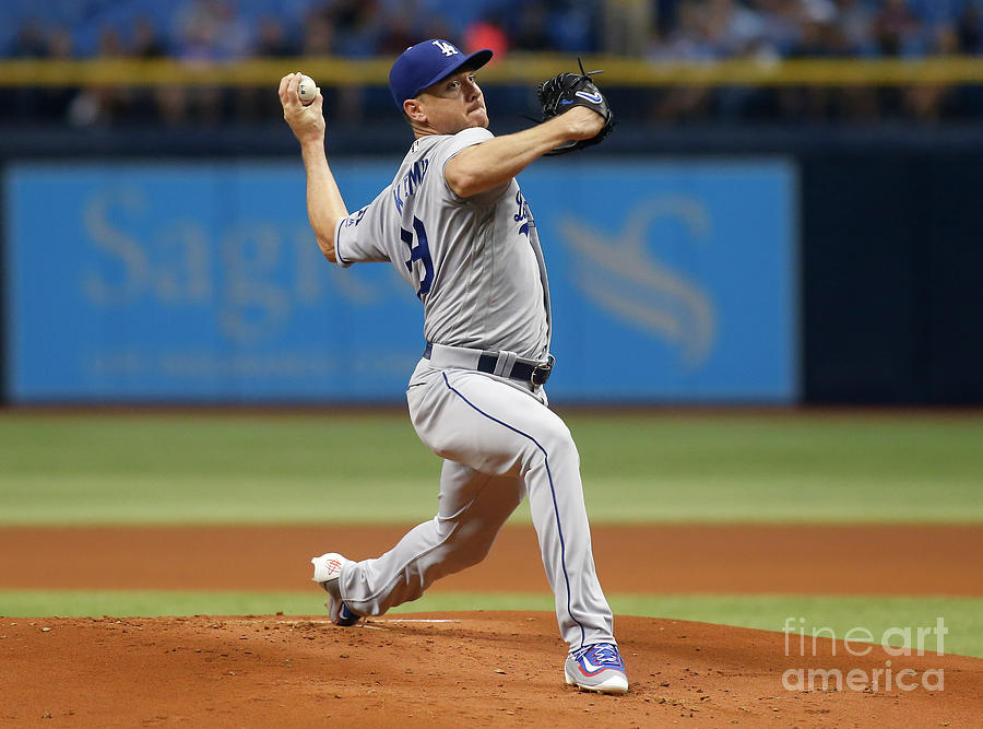 Los Angeles Dodgers V Tampa Bay Rays Photograph by Brian Blanco