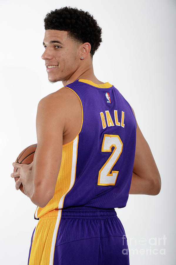 Los Angeles Lakers Introduce Lonzo Ball Photograph by Andrew D. Bernstein